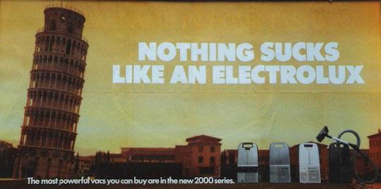 Campagne marketing Electrolux erreur traduction