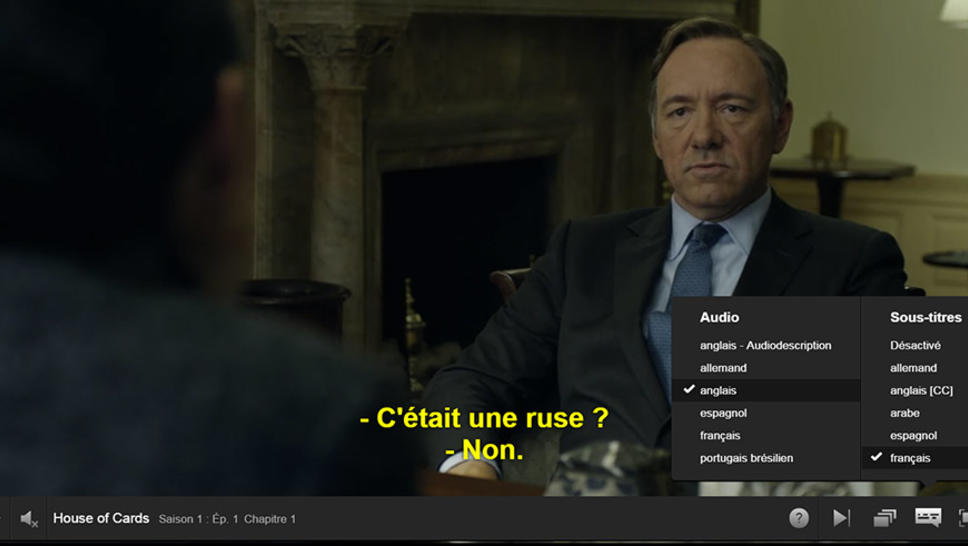 Sous-titrage House of card
